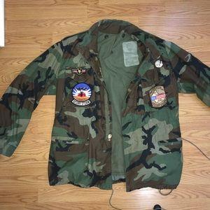 Camo field jacket military